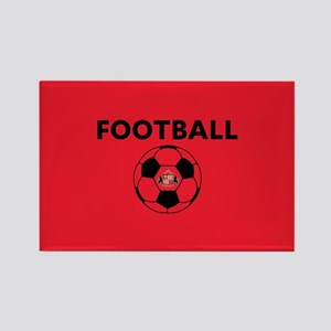 Sunderland Soccer Ball- full blee Rectangle Magnet