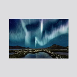 Northern Lights Rectangle Magnet
