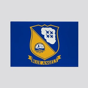 U.S. Navy Blue Angels Crest Rectangle Magnet