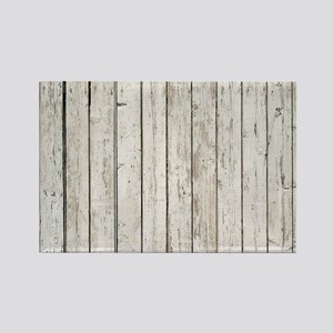 shabby chic white barn wood Magnets