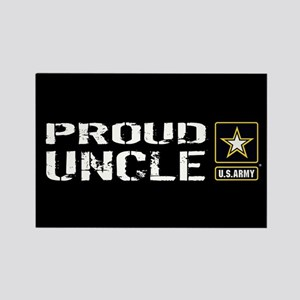 U.S. Army: Proud Uncle (Black) Rectangle Magnet