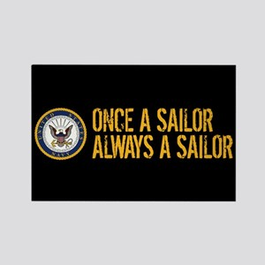 U.S. Navy: Once a Sailor, Always Rectangle Magnet