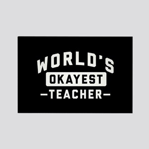 World's Okayest Teacher Rectangle Magnet