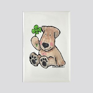 Wheaten with 4 leaf clover Rectangle Magnet