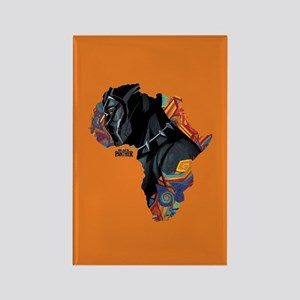 Black Panther Africa Rectangle Magnet