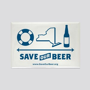 Save Our Beer! Rectangle Magnet