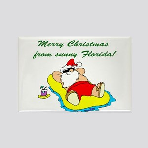 Christmas in Florida Rectangle Magnet