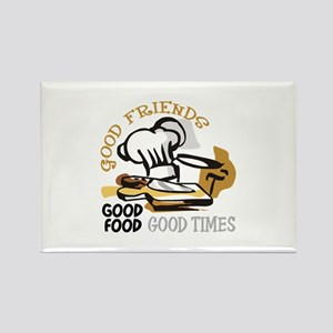 GOOD FRIENDS FOOD AND TIME Magnets
