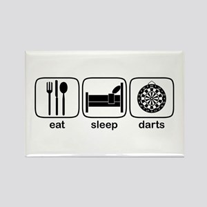 Eat Sleep Darts Rectangle Magnet