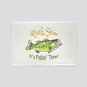RISE AND SHINE FISHING TIME Magnets