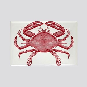 Vintage Crab Rectangle Magnet