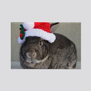Bunny Christmas Ornament Rectangle Magnet