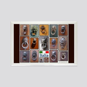 Doorknockers of Italy Rectangle Magnet