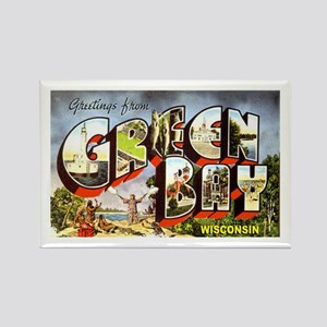 Green Bay Wisconsin Greetings Rectangle Magnet