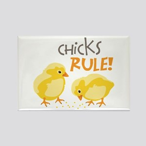 Chicks RULE! Magnets