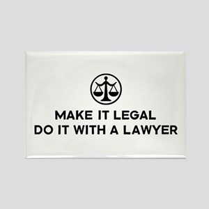 Funny Lawyer Rectangle Magnet