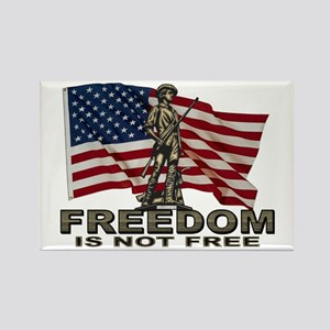 FREEDOM NOT FREE Rectangle Magnet