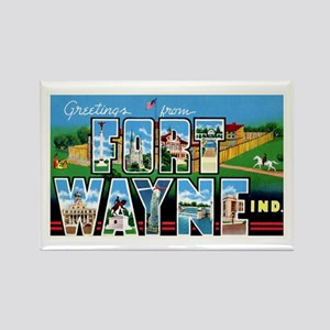 Fort Wayne Indiana Greetings Rectangle Magnet