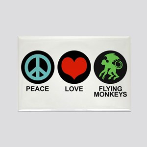 Peace Love Flying Monkeys Rectangle Magnet
