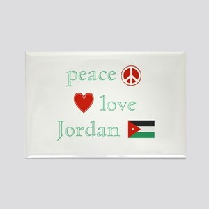 Peace, Love and Jordan Rectangle Magnet