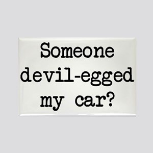 Devil-Egged My Car? Rectangle Magnet