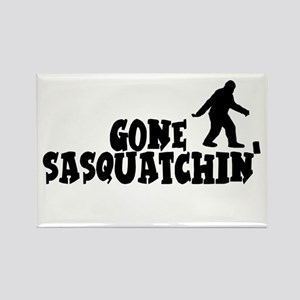 Gone Sasquatchin' Rectangle Magnet