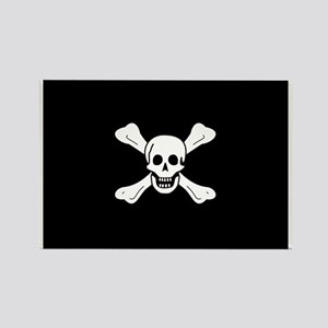 Richard Worley's Pirate Flag Rectangle Magnet