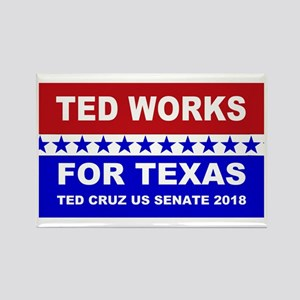 Ted works for Texas Rectangle Magnet