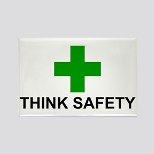 THINK SAFETY - Rectangle Magnet