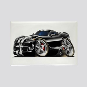 Viper GTS Black Car Rectangle Magnet