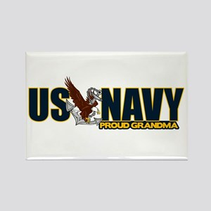 Navy Grandma Rectangle Magnet
