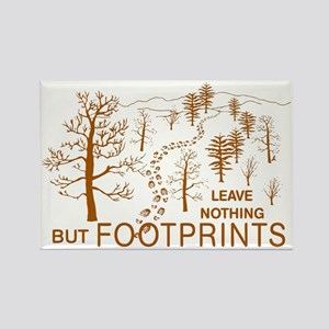Leave Nothing but Footprints Brow Rectangle Magnet