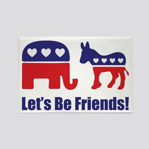 Lets Be Friends! Rectangle Magnet