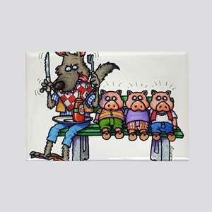 THREE LITTLE PIGS Rectangle Magnet