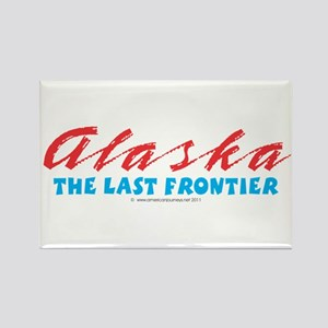 Alaska - Last frontier Rectangle Magnet