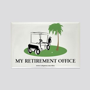 Golf Retirement Rectangle Magnet