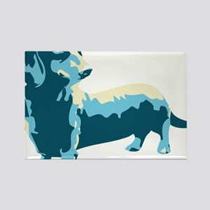 Dachshund Pop Art dog Rectangle Magnet