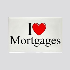 """I Love (Heart) Mortgages"" Rectangle Magnet"