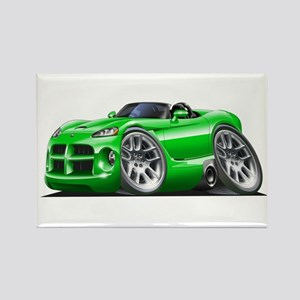 Viper Roadster Green Car Rectangle Magnet
