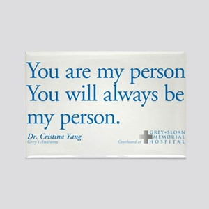 Youre My Person Greys Anatomy Magnets - CafePress