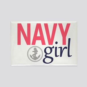 Navy Girl Magnets