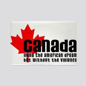 Canada & The American Dream Rectangle Magnet