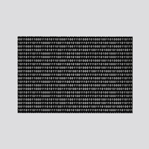 Binary Code 010 DOS Rectangle Magnet