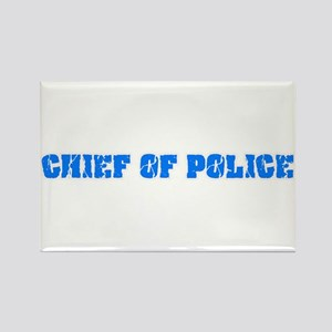 Chief Of Police Blue Bold Design Magnets