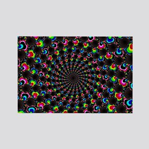 Psychedelic Wormhole Rectangle Magnet