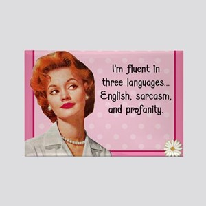 English Sarcasm Profanity Rectangle Magnet