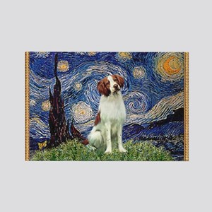Starry Night/Brittany Rectangle Magnet