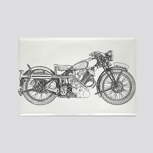 1935 Motorcycle Rectangle Magnet