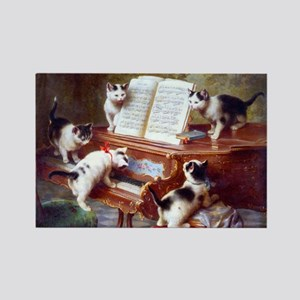 Cats on a Piano; Vintage Poster Magnets