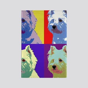 Westie a la Warhol! Rectangle Magnet